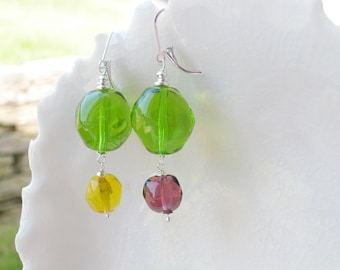 Murano Glass Mismatched Earrings
