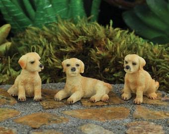 Dollhouse Miniature Fairy Garden Diorama Set of (3) Dogs 1:12 Scale