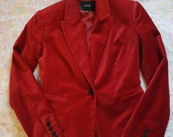 Jacob Red Velvet Blazer - size Extra Small - 1990s style