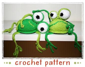 Frog - Shelf Sitter - Crochet Pattern - PDF file - Amigurumi