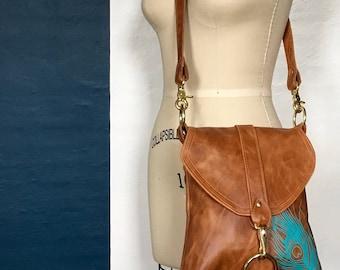 MEDIUM MESSENGER - brown leather bag - custom leather satchel bag - small leather messenger bag - crossbody purse - cross body handbag