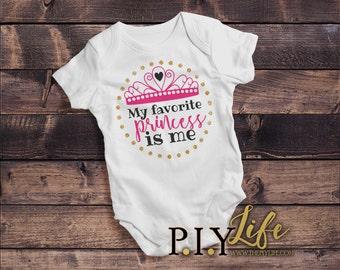 Kids    My Favorite Princess is Me Kids Bodysuit DTG Printing on Demand