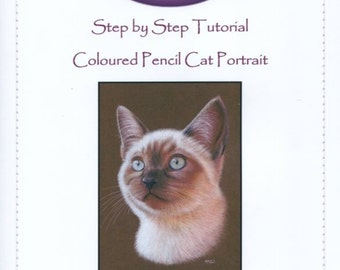 Step by Step Art Tutorial - How to draw a Cat by Karen Hull