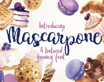 Mascarpone - a tectured bouncy font