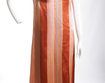 Vintage Street Style Striped Maxi Dress