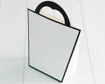 10 modern gable boxes, wedding favor boxes, bridal shower favor boxes, gift boxes, tote boxes, cute boxes, simple boxes, party favor boxes