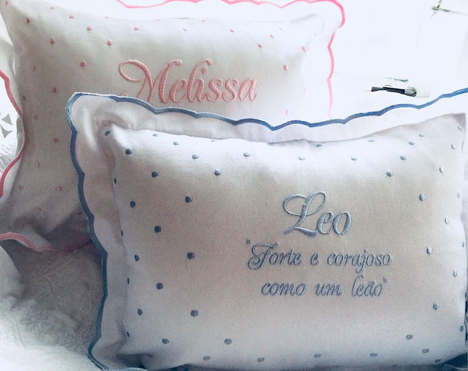 Personalized Embroidered Baby Pillow- Personalized baby gift Keepsake Shower, pillows with sayings, Monogrammed Pillows, Custom Pillow