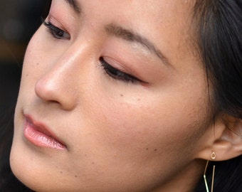 Geometric Earrings, Minimalist Earrings, Reversible Earrings, Simple Silver Earrings, 14K Yellow Gold, 14K Rose Gold, Geo Earrings, Whorl