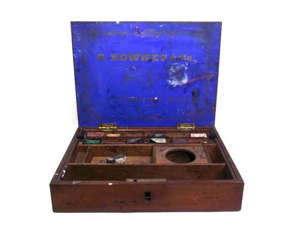 Antique Mahogany Watercolour Box by G Rowney & Co London