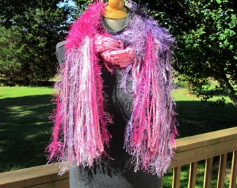 loose knit scarf, shabby chic scarf, handknit scarf, Womens gifts, Knit Fringe Scarf, Winter Scarf, Womens Accessories, gifts for her