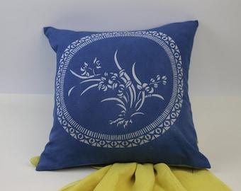 Deep Indigo cotton canvas Pillow Cover | Pillow Cover | 18x18 Pillow Cover