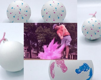 GOLF BALLS : Golf Ball Pack (Custom Color Combinations and Styles) Gender reveal Golf Ball