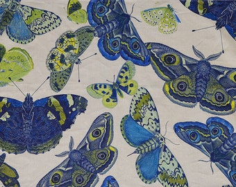 BLUE MOTHS  by Design Legacy print fabric