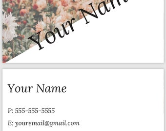Premade business card