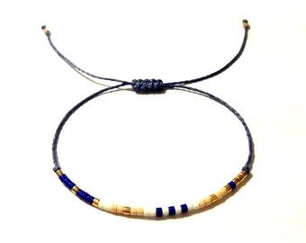 Delicate layering bracelet Friendship bead bracelet string bracelet adjustable friendship bracelet
