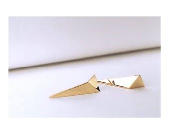 FOLD GOLD earrings, minimal geometric goldplated earrings