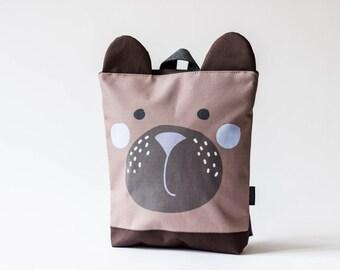 Bear backpack, Kids backpack, Children backpack, Printed waterproof backpack