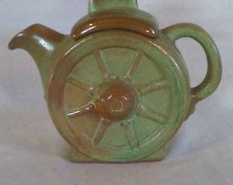 Frankoma Wagon Wheel TeaPot/Personal Tea Pot/Western Decor