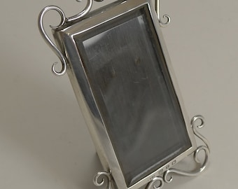 Small English Victorian Sterling Silver Photograph Frame
