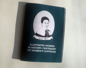 A5 FULL COLOUR - Illustrated Women in History zine suffrage 100 votes for women suffrage centenary