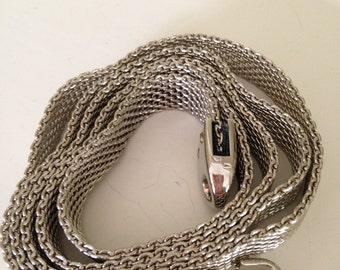 Silver mesh hook belt