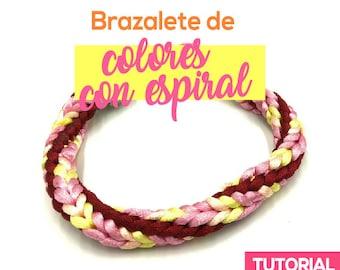 Brazalete de Colores con Espiral Ebook PDF con Video Tutorial