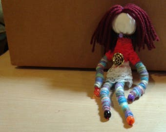 Wish granted hand made doll, positive energy doll, decoration one of a kind doll