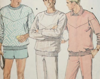 Mens Sweatshirt Sewing Pattern - Mens Sweatpants Sewing Pattern - Mens Shorts Sewing Pattern - Butterick 5916 - Size Large - Extra Large