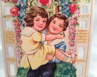 Vintage German three dimensional pop up Valentine Card