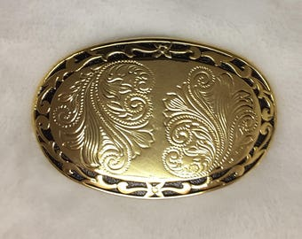 Gold Tone Western Belt Buckle