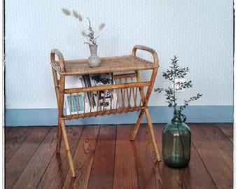 Vintage rattan shelf