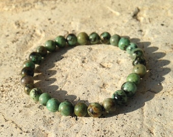 6mm African Turquoise Healing Stone Bracelet