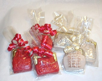 Ladies Chocolate Purse Favors bridal shower birthday tea party