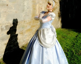 Ladies Blue Princess Ballgown, Classic Cinderella Costume, Custom Adult costumes, Cinderella Cosplay, Princess Party Kids Entertainment
