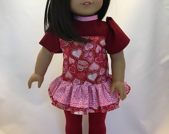 18 inch doll tunic dress and leggings