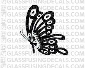 Papillon 3 verre Fusing Decal pour verre ou de céramique