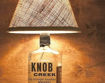 Liquor Bottle Table Lamps Handmade Knob Creek Small Batch Straight Bourbon Whiskey Free US Shipping