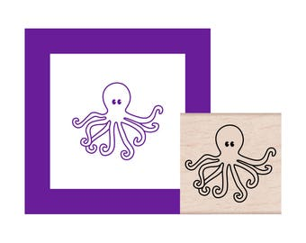 NEW for 2018 Octopus Rubber Stamp