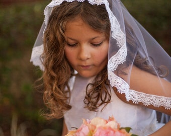 Girl's First Communion Veil, First Communion Vail, Holy Comunion