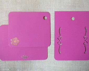 """Set of large pink tags decorated theme """"kids"""" for scrapbooking - labels"""