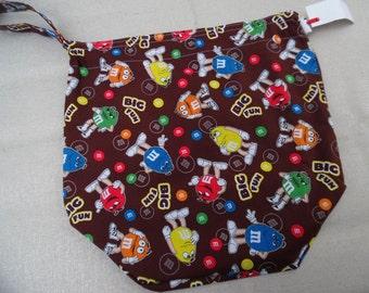 Large Reversible WIP bag, M&Ms