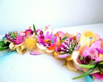 Wildflowers -  OOAK Neckpiece - Ready to ship xx