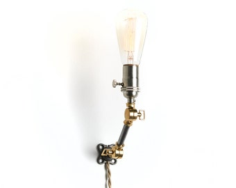 Industrial articulating wall sconce, wall light