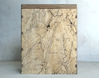 Map Box - Coniston - OS Map Storage - Engraved Map Box - Storage Box for Maps