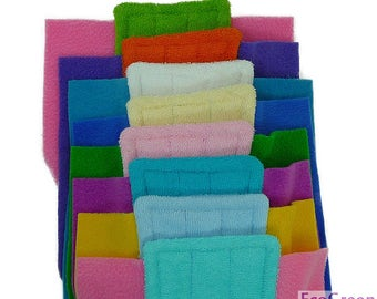 5 TERRY & TERRY Swiffer mop pads, Reusable Swiffer mopping pads, Washable Swiffer Sweeper mop Pads EcoGreen Pads. Both Sides are Terry Cloth