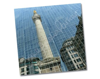 "Greeting card –""Monument Reflected"" – FREE UK postage"