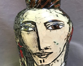 city vase with true heart