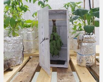 Herb Dryer, Eco, Box, Cupboard, Distressed, Vintage style