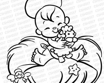 Baby Jesus Stamp Digital stamp
