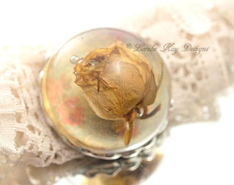 Everlasting Real Rose Brooch Soldered Resin Dome Real Dried Rose Resin Dome Pin Broach Lorelie Kay Original